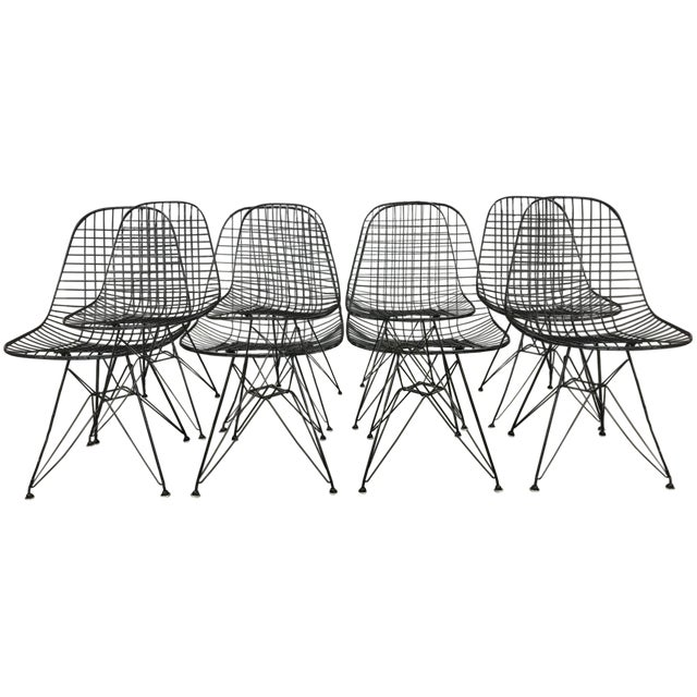 Charles and Ray Eames Dkr5 Eiffel Base Chairs - Four Available - Image 1 of 5