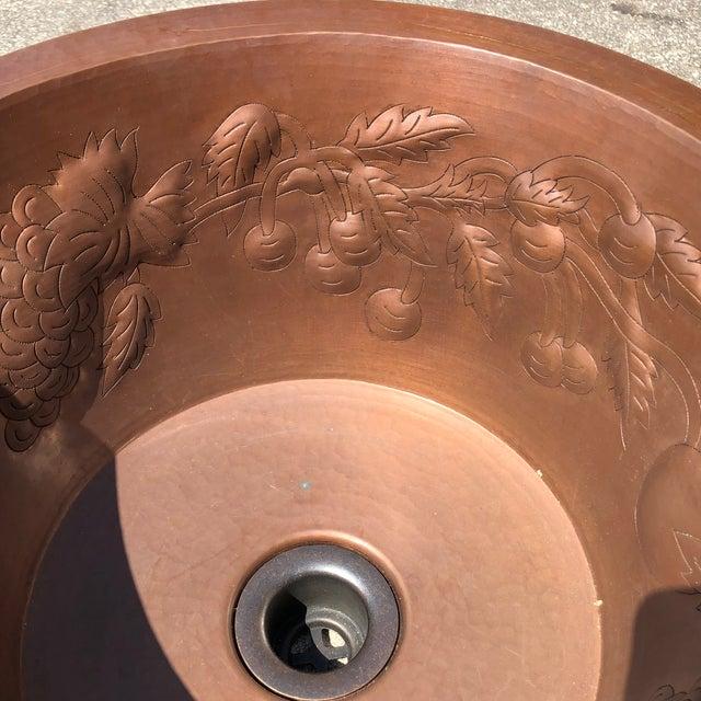 Hollywood Regency Linkasink Hammered Copper Grape Leaf Bar Sink For Sale - Image 3 of 8
