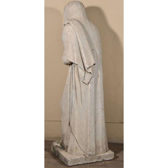 19th Century Carrara Marble Statue from Italy For Sale - Image 4 of 9