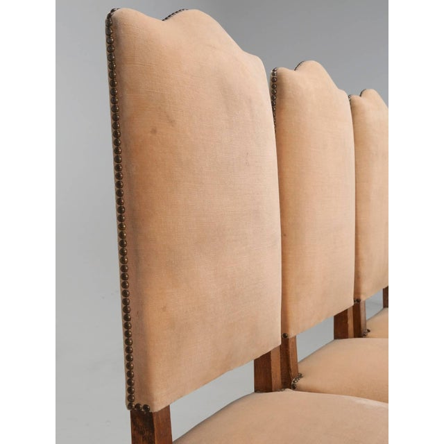 Country Antique French Dining Side Chairs - Set of 6 For Sale - Image 3 of 12