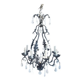 Large Rock Crystal Chandelier For Sale