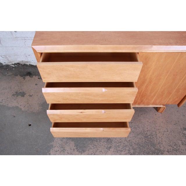 Wood Edmond Spence Swedish Modern Maple Sideboard Credenza, Newly Refinished For Sale - Image 7 of 13