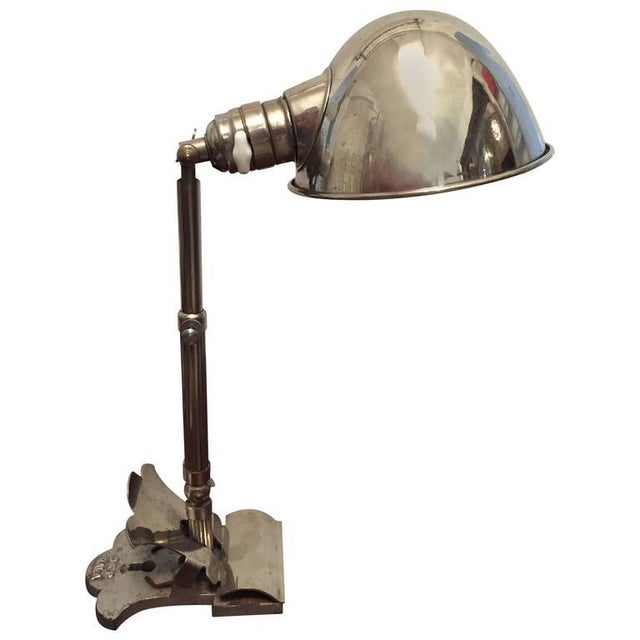 Art Deco Clamping Lamp by HALA - Hannoversche Lampenfabrik, 1920s For Sale - Image 9 of 9