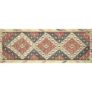 "Nalbandian - 1920s Turkish Kilim Runner - 5'3""x14'7"" For Sale"