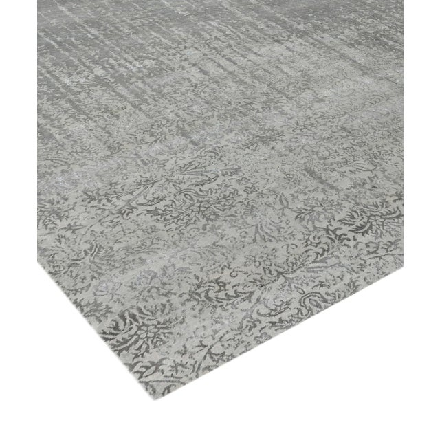 Modern Pasargad Bamboo Silk & Wool Rug - 8′1″ × 10′ For Sale - Image 3 of 6