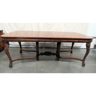 20th Century Victorian Style Carved Dining Room Table Preview