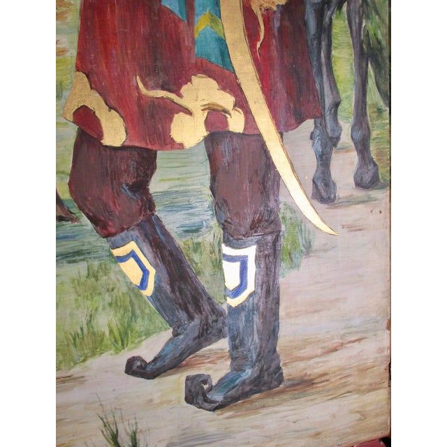 Blue 1930s Russian Fairy Tale Floor Screen For Sale - Image 8 of 13