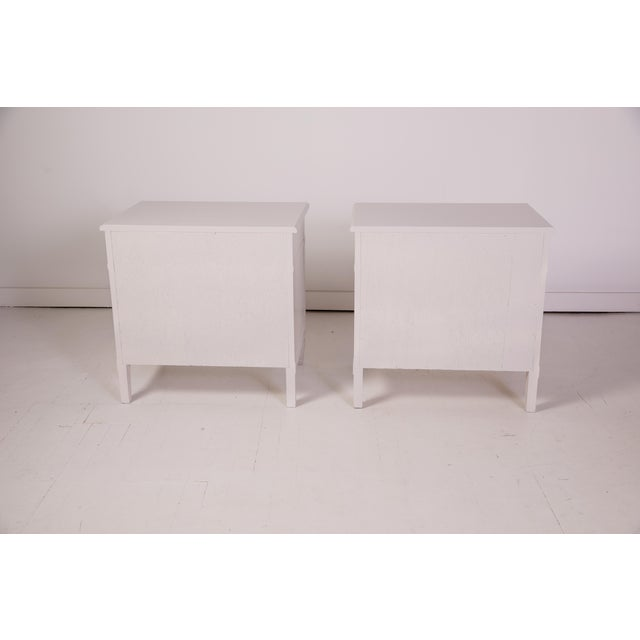 1960s Mid-Century Modern Baker Furniture Grey Nightstands - a Pair For Sale - Image 5 of 12