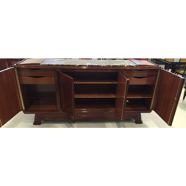 Wood French Art Deco Numbered Gaston Poisson Buffet For Sale - Image 7 of 10