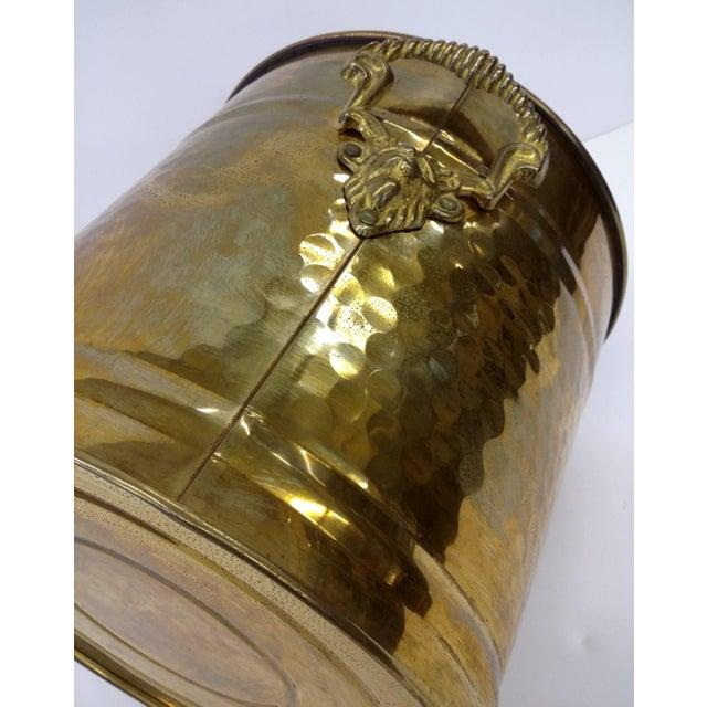 Brass Lion Head Handle Planter - Image 8 of 9