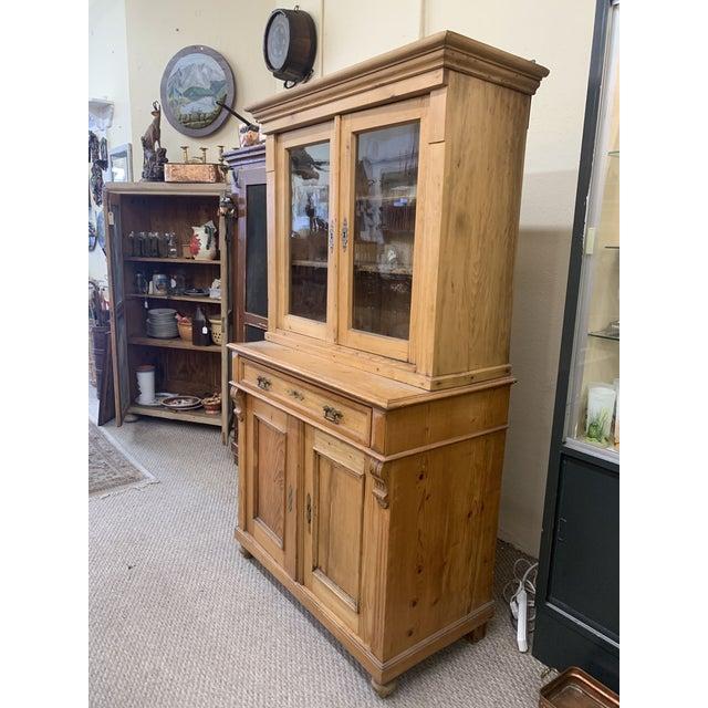 1880 S Honey Pine Kitchen Cabinet Chairish
