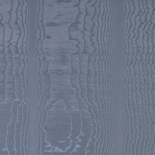 Sample - Schumacher Moire Wallpaper in Ocean For Sale