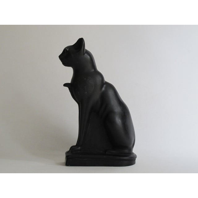 Egyptian Black Cat Carved Stone Sculpture - Image 2 of 10