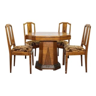 1930s Art Deco Dining Set For Sale