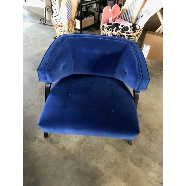 Custom Cobalt Club Chair For Sale - Image 5 of 5