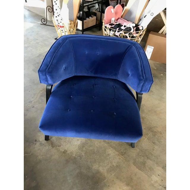 Custom Cobalt Club Chair For Sale - Image 5 of 5