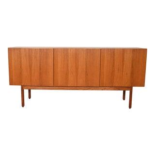 Danish Modern Teak 3 Door Sideboard / Room Divider For Sale