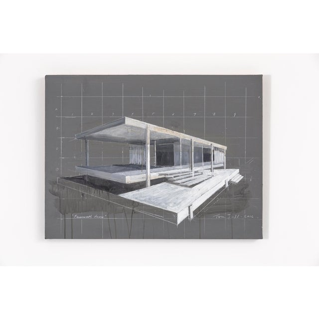 This architecturally-focused piece by Tom Judd depicts the Farnsworth House, a structure constructed and designed by world...