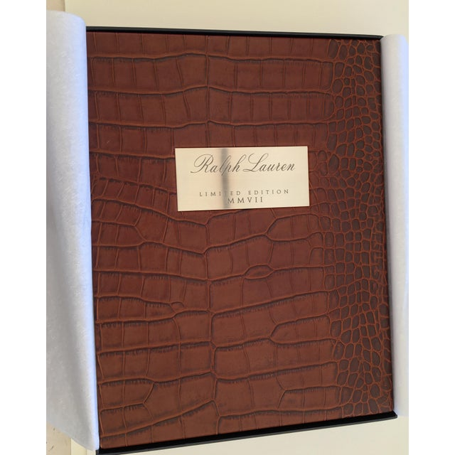 Ralph lauren limited edition embossed alligator covered book.