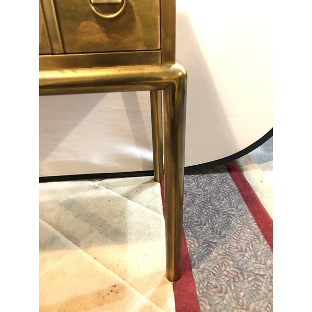 Mastercraft Brass Two-Drawer Small Chest of Drawers Cabinet - Image 8 of 9