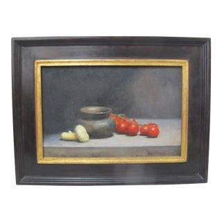Roald Sivertsen Norway Vegetable Still Life Oil Painting For Sale