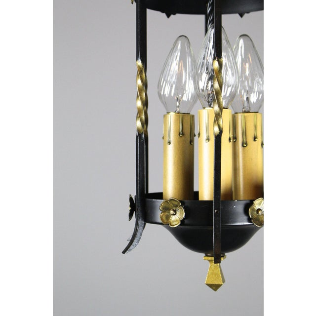 Metal Spanish Colonial Lantern by Moe Bridges Co. For Sale - Image 7 of 7