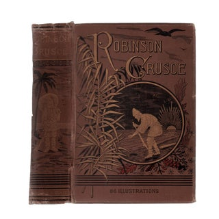 "1870 ""The Life and Adventures of Robinson Crusoe"" Collectible Book For Sale"