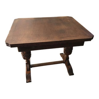 Late 19th Century Antique Brenner English Oak Dining Table For Sale