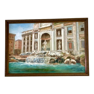 Large Venice Oil Painting Signed and Framed For Sale