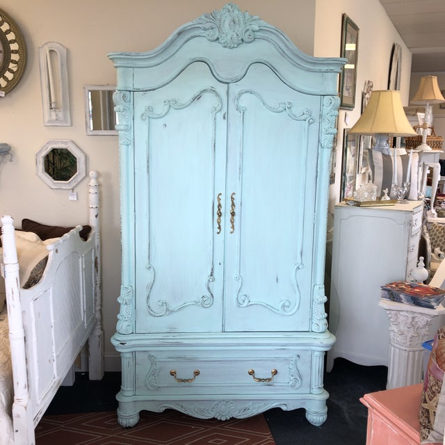 French Provencal Large Scale Armoire For Sale - Image 13 of 13