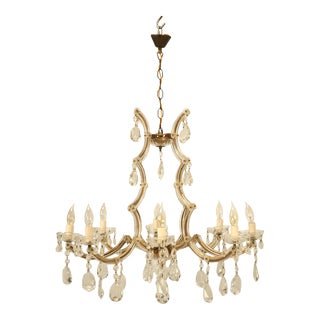 Circa 1930s Baroque Style Spanish Chandelier For Sale