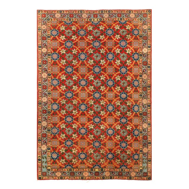 """1970's Vintage Persian Varamin Rug - 3'5"""" X 4'7"""" For Sale - Image 4 of 4"""