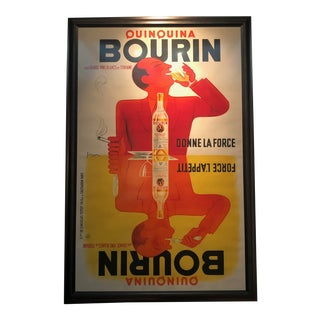 Bourin Quinquina Framed French Poster For Sale