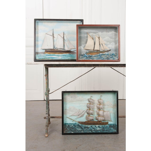 Paper 19th Century English Nautical Diorama For Sale - Image 7 of 8