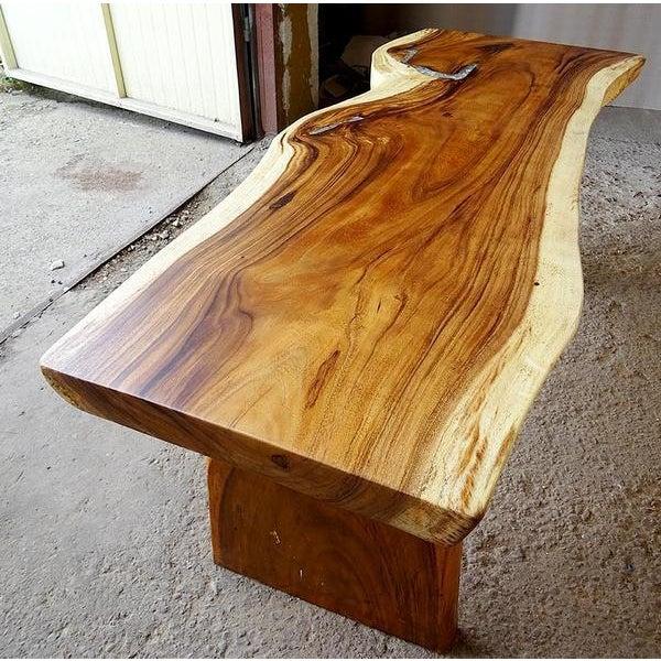 Coffee Table Teak Live Edge: One Of A Kind Suar Teak Slab Epoxy Resin Dining Table