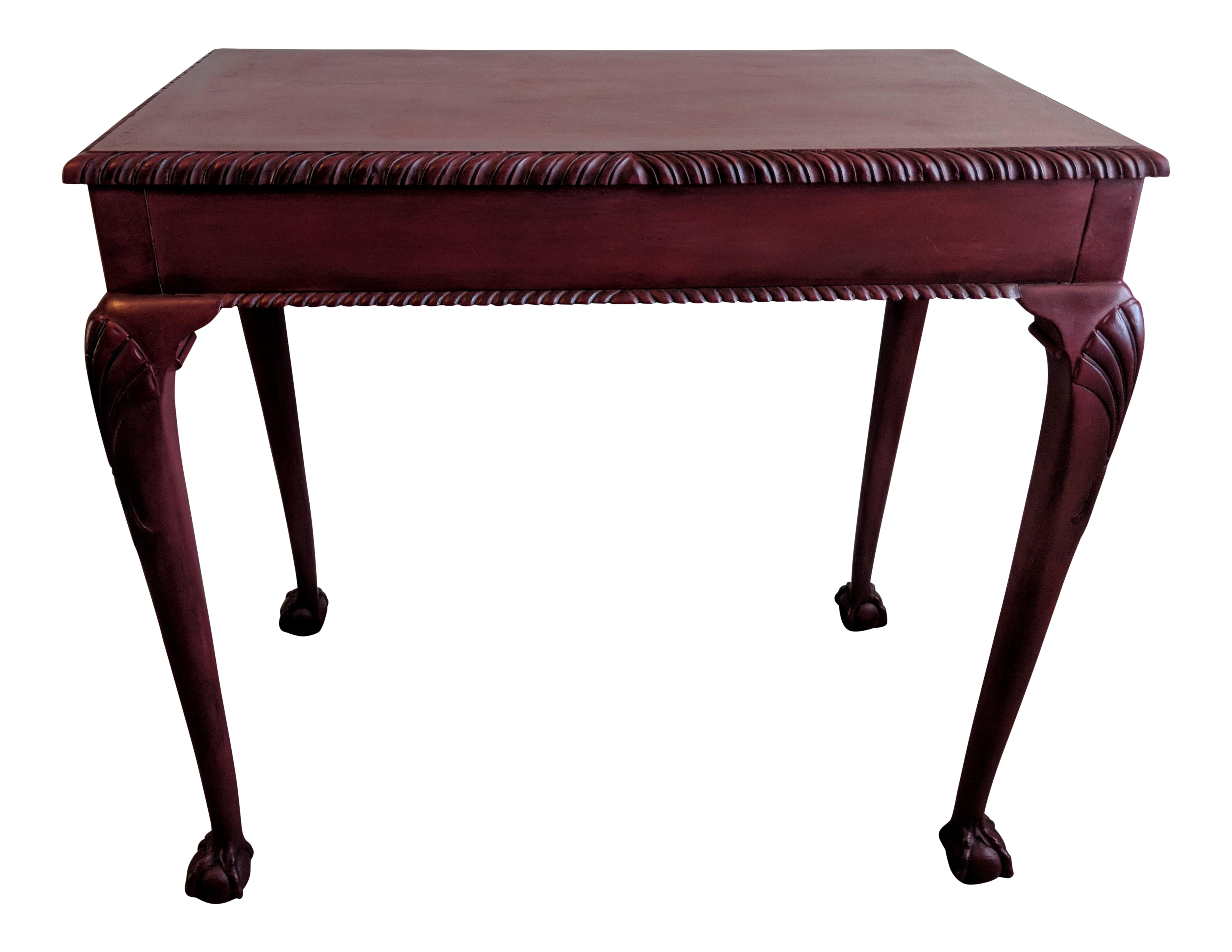 Chippendale Style Ball U0026 Claw Mahogany Side Table For Sale