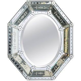 1950s Octagonal Venetian Mirror For Sale