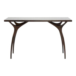 Stamford Modern's Crescent Console Table in Mahogany For Sale