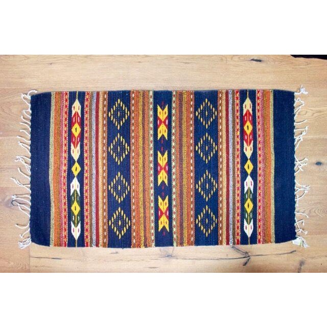 """Mexican Pedal-Loom Rug - 2' x 3'3"""" - Image 2 of 4"""