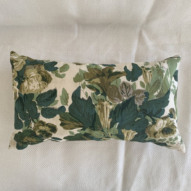 "John Rosselli Michael Smith Jasper ""grace"" Green Linen Lumbar Pillow. Designer 12 x 21"" pillow for the finishing touch...."