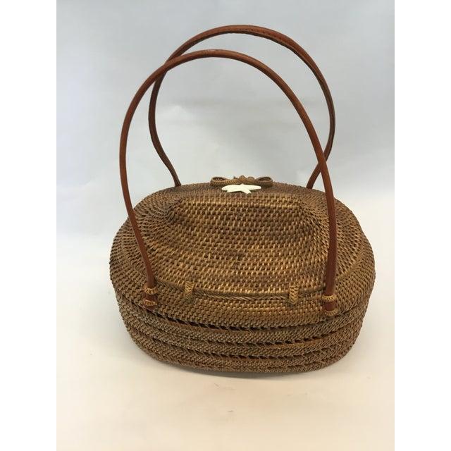 Carved Exotic Balinese Handbag - Image 5 of 6