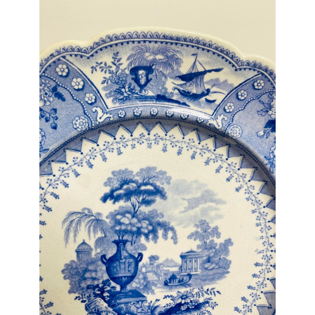 Early 19th Century Early 19th Century Staffordshire Blue and White Plates - Set of 8 For Sale - Image 5 of 7