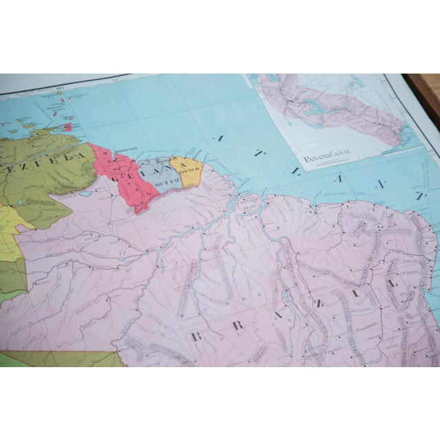 Vintage Pull Down Map of South America For Sale In New York - Image 6 of 9