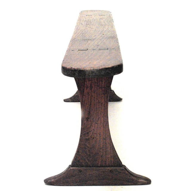 Renaissance Revival Rustic Italian Renaissance Style Fruitwood Bench (19th Century) For Sale - Image 3 of 5