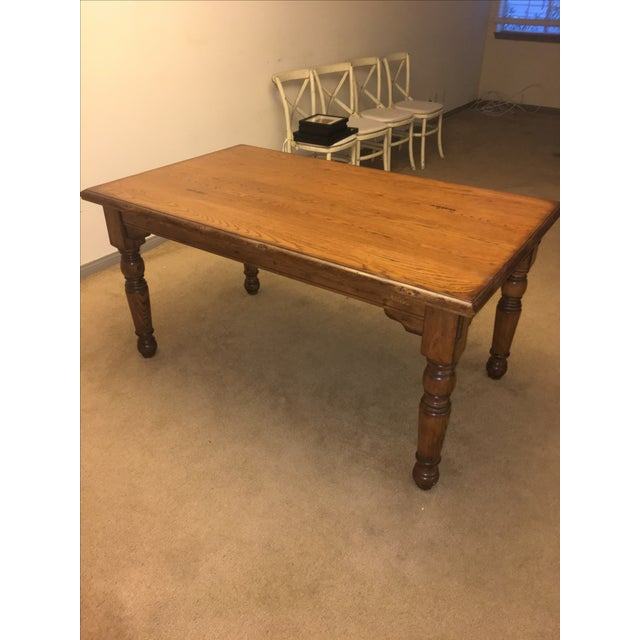 Pottery Barn Farmhouse Dining Table - Image 4 of 6