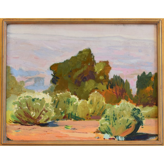 Abstract George Barker(1882-1965), Plein Air California Landscape Oil Painting For Sale - Image 3 of 10