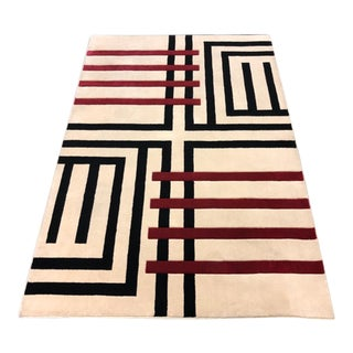 Andy Warhol Home Collection Crossword Rug - 5′3″ × 7′9″ For Sale