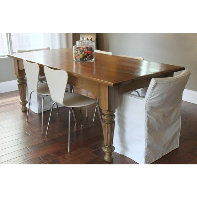 Rustic Farmhouse Dining Table - Image 4 of 10