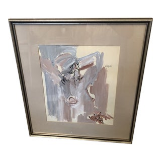 1970s Abstract Female Nude Oil Painting, Framed For Sale