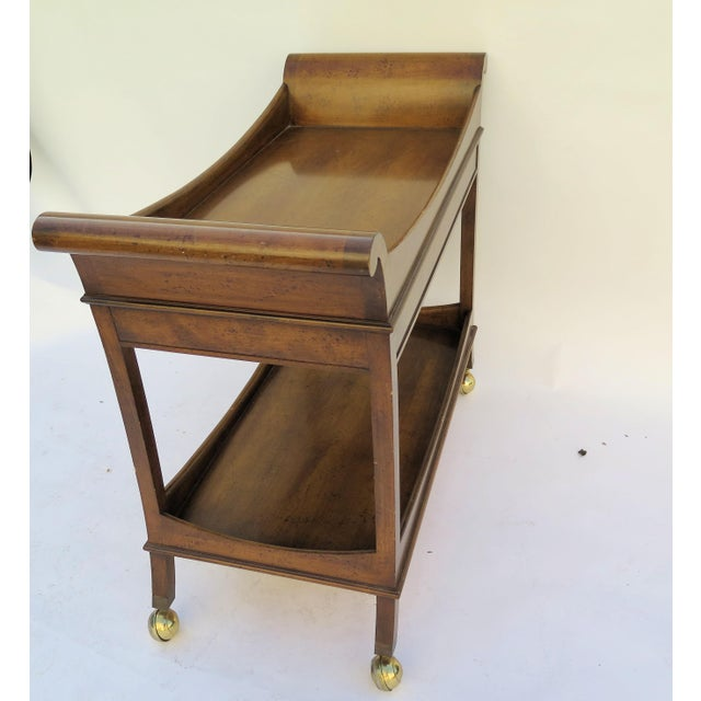 Mid-Century Modern 1960's Monumental Maple Wood Bar Cart For Sale - Image 3 of 6